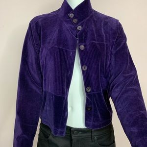 Lizsport purple button down cardigan